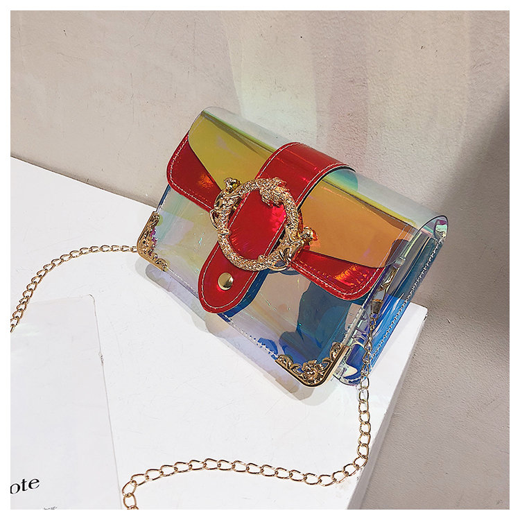 Laser jelly package chain shoulder diagonal package transparent package NHXC135492