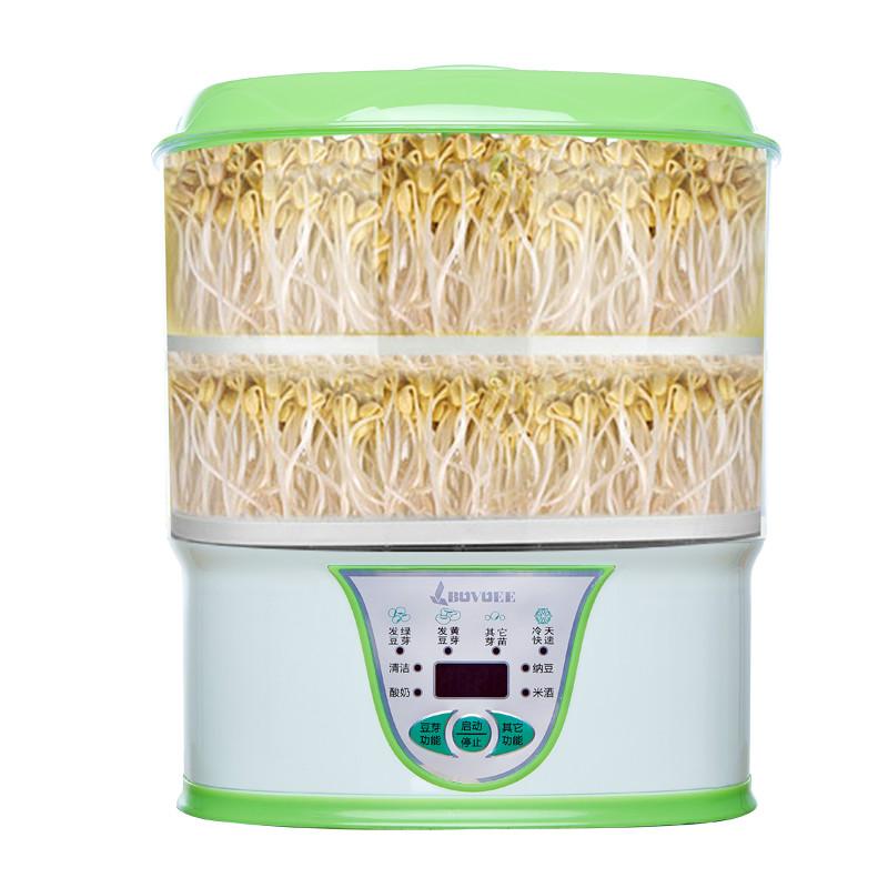 百易豆芽机家用全自动芽苗生发豆芽多功能豆芽菜发芽机做酸奶纳豆_天猫超市优惠券