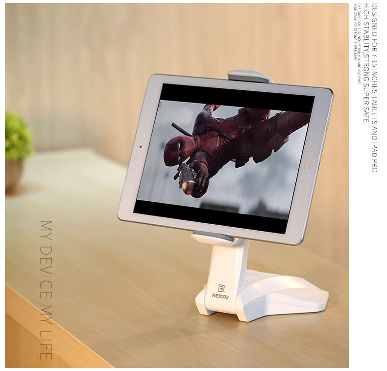 Remax RM-C16 360° Rotation Tablet Bracket Desktop Holder for iPad/ Samsung Galaxy Tab/ Xiaomi Mi Pad/ 7-15'' Tablet PC