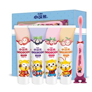 【小浣熊】无氟水果儿童牙膏30g*4
