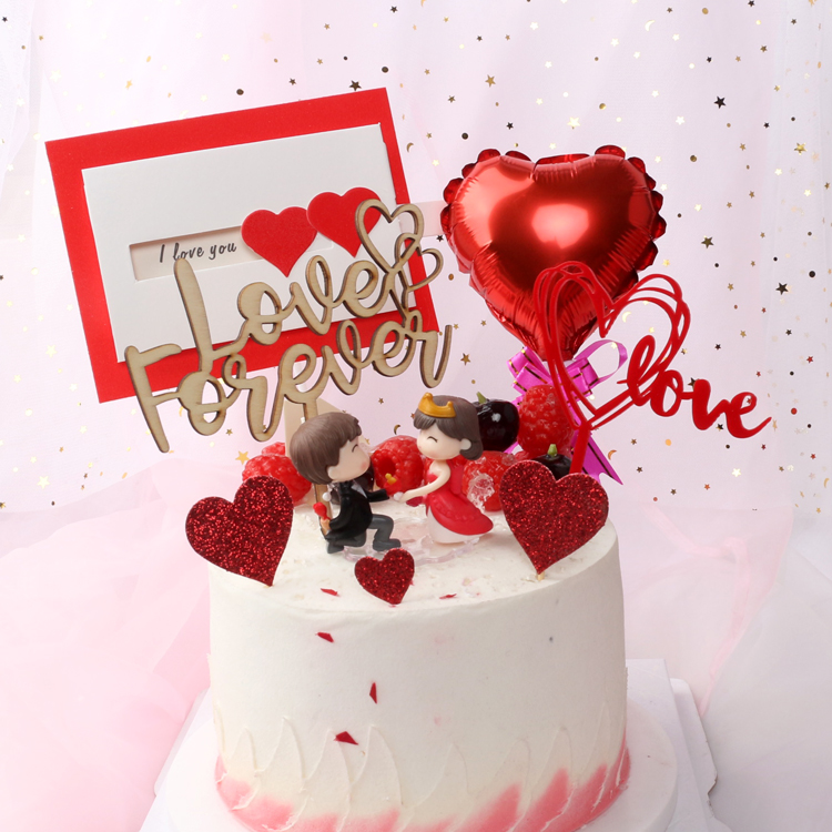 Terrific Love Love Acrylic Birthday Cake Decoration Card Valentines Day Funny Birthday Cards Online Elaedamsfinfo