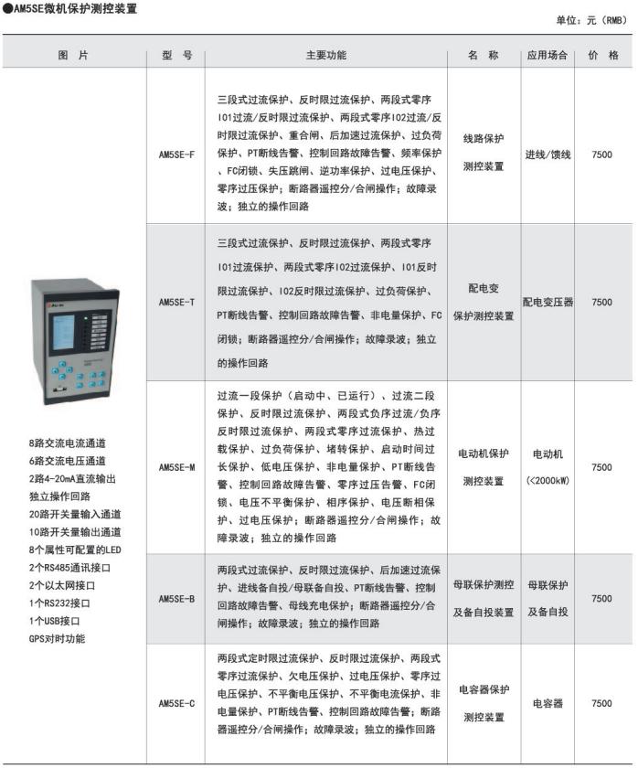 变配电站无人值守  线路保护测控装置   安科瑞AM5SE-F  进线/馈线微机电动机保护装置  三段式过流保护示例图20