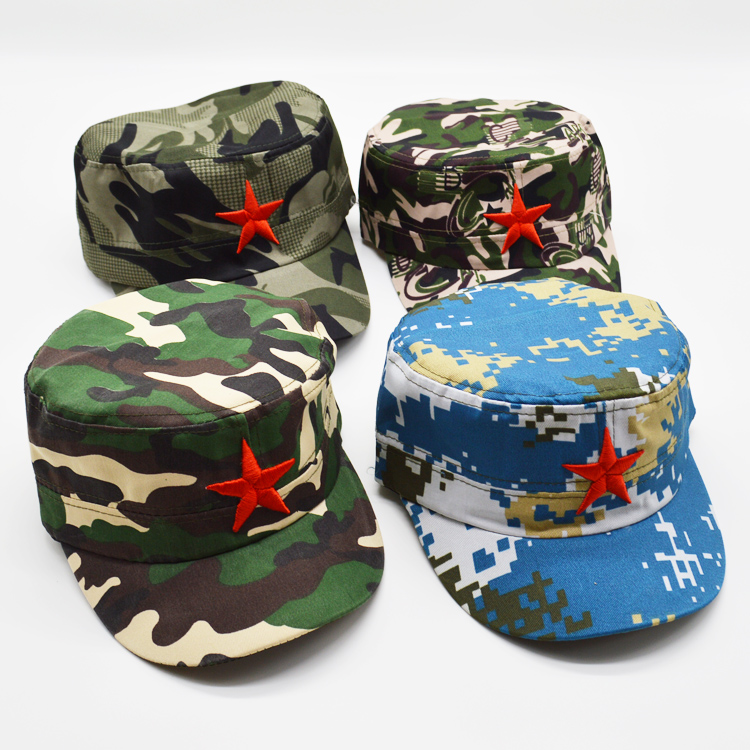Children s camouflage military cap five-pointed star military cap six one  kindergarten performance spring summer a2fb7d306113