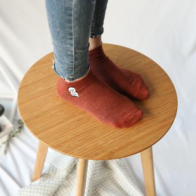 杂啊 WARM刺绣船袜女秋冬可爱薄款隐形棉袜纯棉动物卡通纯色袜子