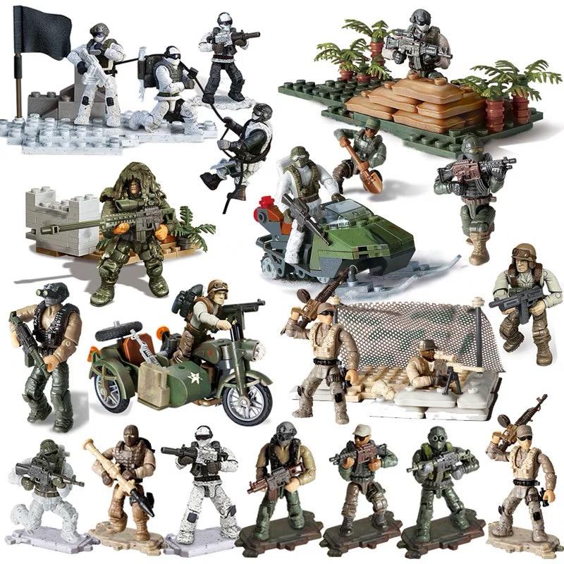 15 pcs//lot Anti-terrorist Guerrillas Soldiers Military Mini figures Fit LeGo Toy