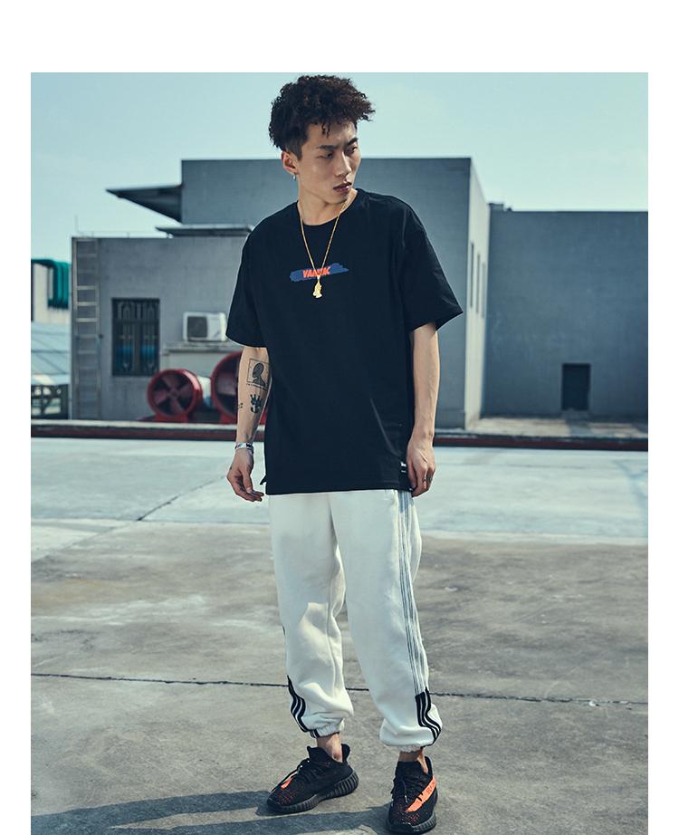 MRXXX đường phố hip hop thời trang đường phố ngắn tay T-Shirt nam xu hướng mùa hè lỏng vài nửa tay áo sơ mi sinh viên Harajuku top