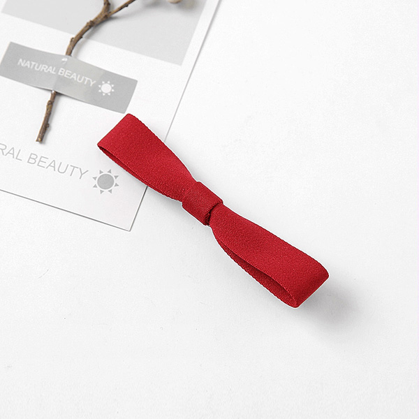 ORANGE RED  31# WINE RED HAIR CLIP