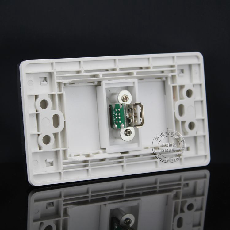120MM Wall Plate One Ports USB Outlet Faceplate USB Data extension line Socket