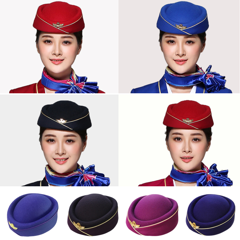 5852a2a8c30 China Southern Airlines authentic stewardess cap custom stewardess hat  student snare Team Cap band performance cap etiquette Cap Hotel Cap