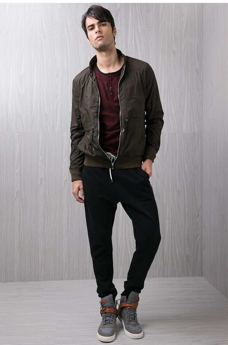 Kama KAMA mùa thu nam áo khoác sườn vòng cổ đồng phục bóng chày của nam giới thường áo khoác 2116720