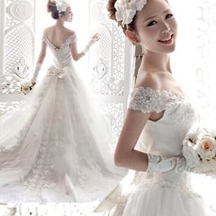 【 зазор 】 мечтать департамент супер корейский слово плечо Место нахождения перетащить хвост невеста свадьба платья оптовая торговля