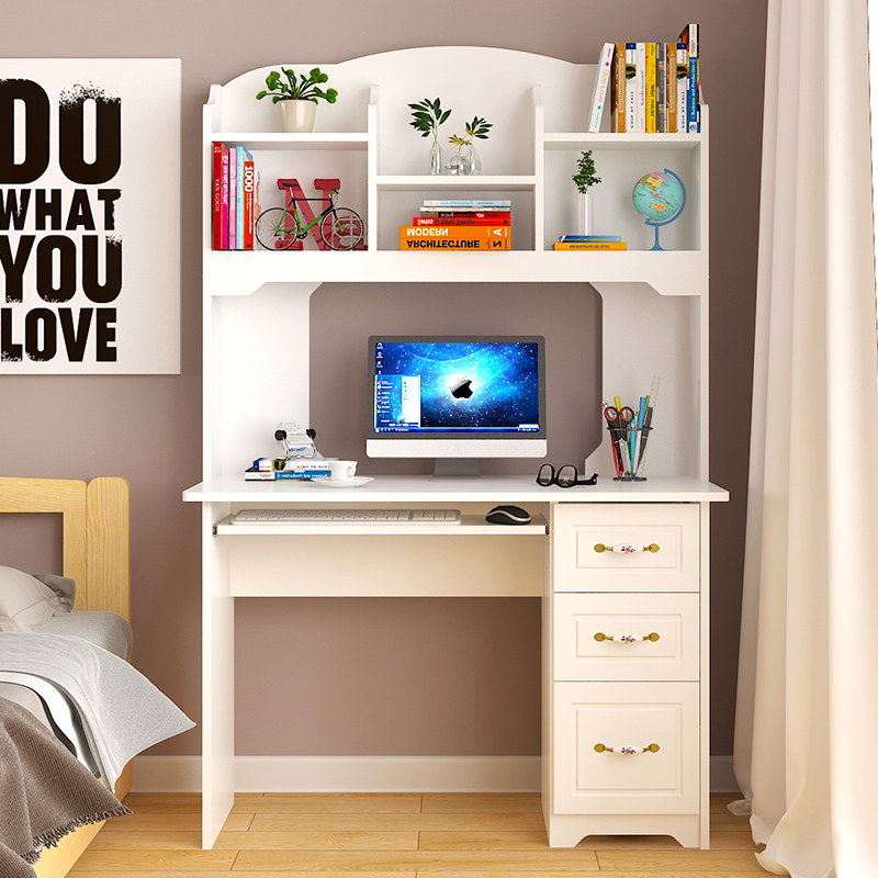 USD 62.19] Computer desk desktop home European white simple ...