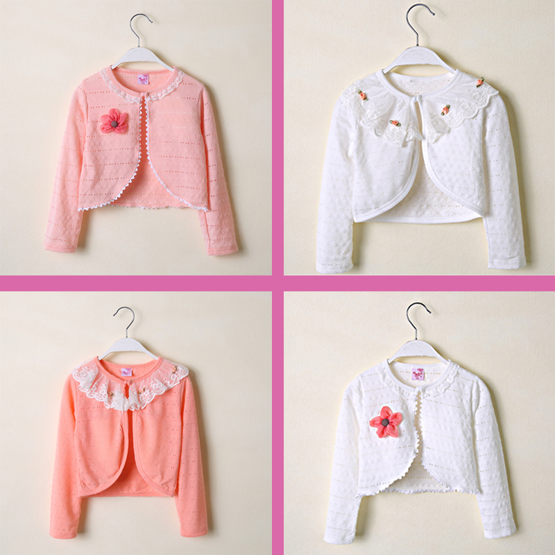 d87503f0c473 USD 16.62  Girls knitted cardigan spring and autumn baby jacket ...