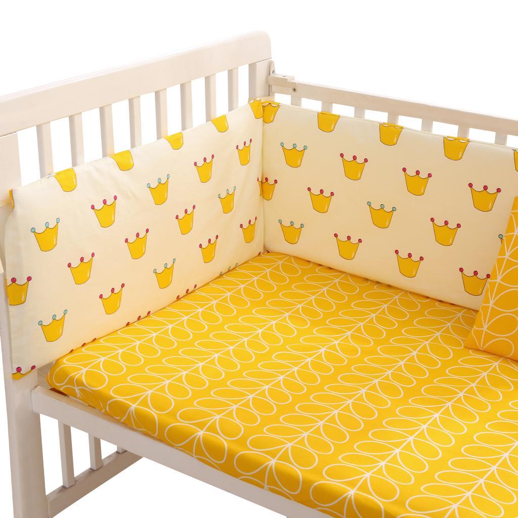 Giường cũi cotton tùy chỉnh bao quanh ga trải giường mùa hè Bông giường trẻ sơ sinh Giường trẻ em xung quanh có thể tháo rời và có thể giặt được - Túi ngủ / Mat / Gối / Ded stuff