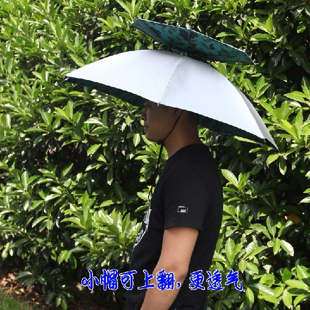3cec551c2b3fe UV Sunscreen large folding head wearing a fishing umbrella hat outdoor  fishing double sunshade umbrella · Zoom · lightbox moreview · lightbox  moreview ...