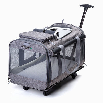 Cat bag trolley box out of the portable large capacity two large outer casing cat bag breathable rod dog bag pet package