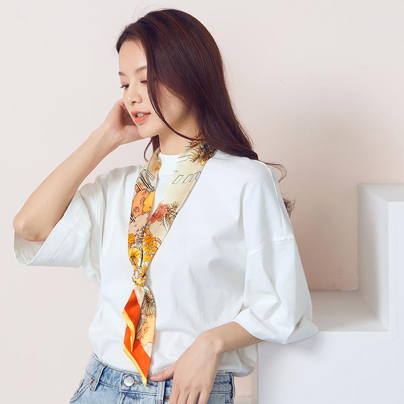 绮臣 16姆米 双层真丝素绉缎 细窄小长条丝巾 天猫yabovip2018.com折后¥79包邮(¥99-20)多色可选