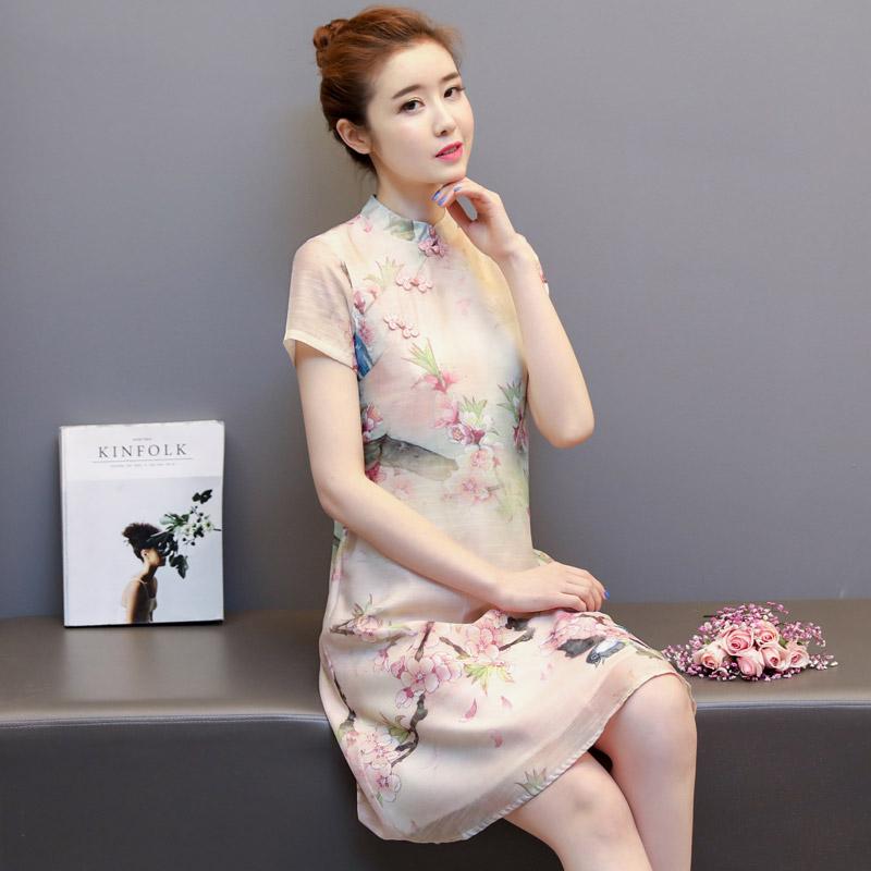 旗袍裙_改良版旗袍连衣裙,展现东方复古元素
