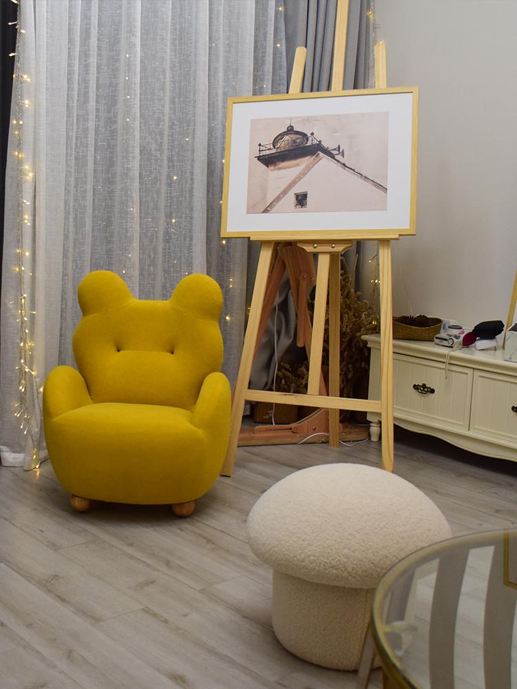 小品傢俱宝宝幼儿家庭亲子阅读书角单人卡通迷你熊儿童小孩沙发椅详细照片