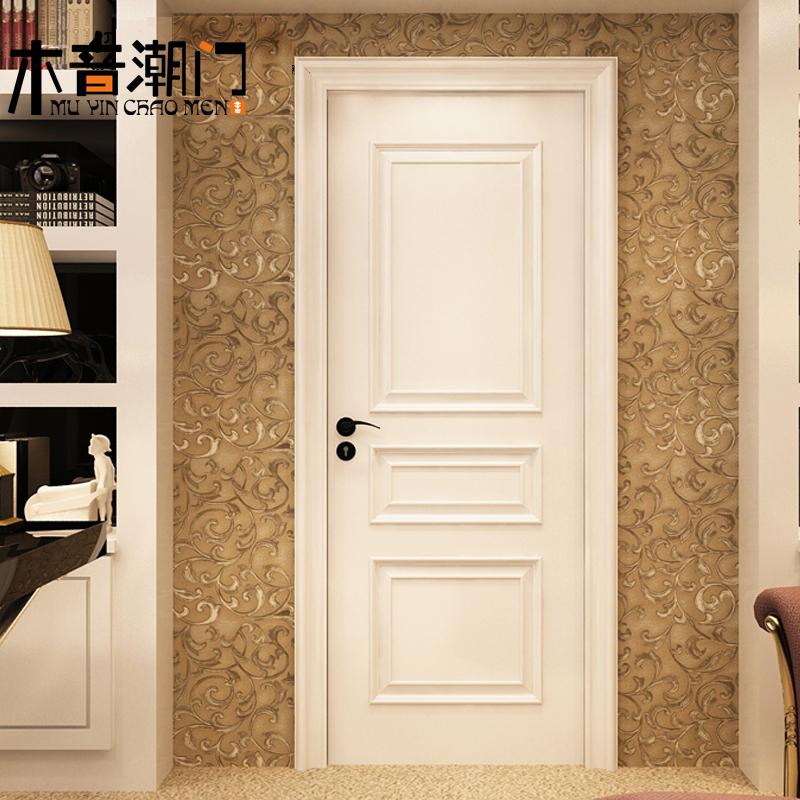 Solid Wood Door Set Door Solid Wood Multi Layer Paint Door American