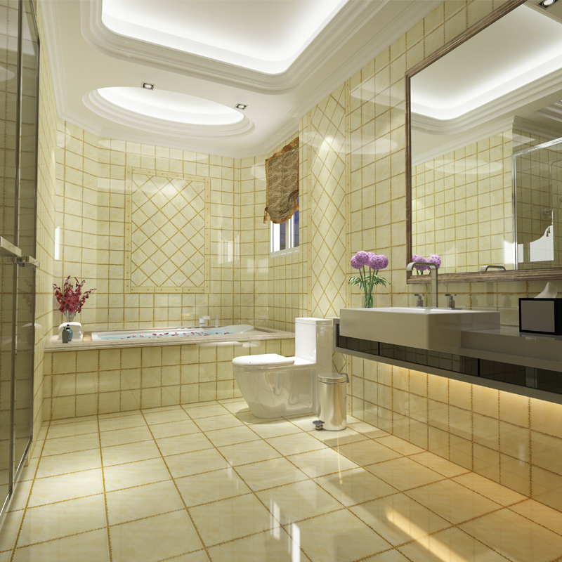 Throwing Brick 300 European Bathroom Wall K Gold Floor Tile