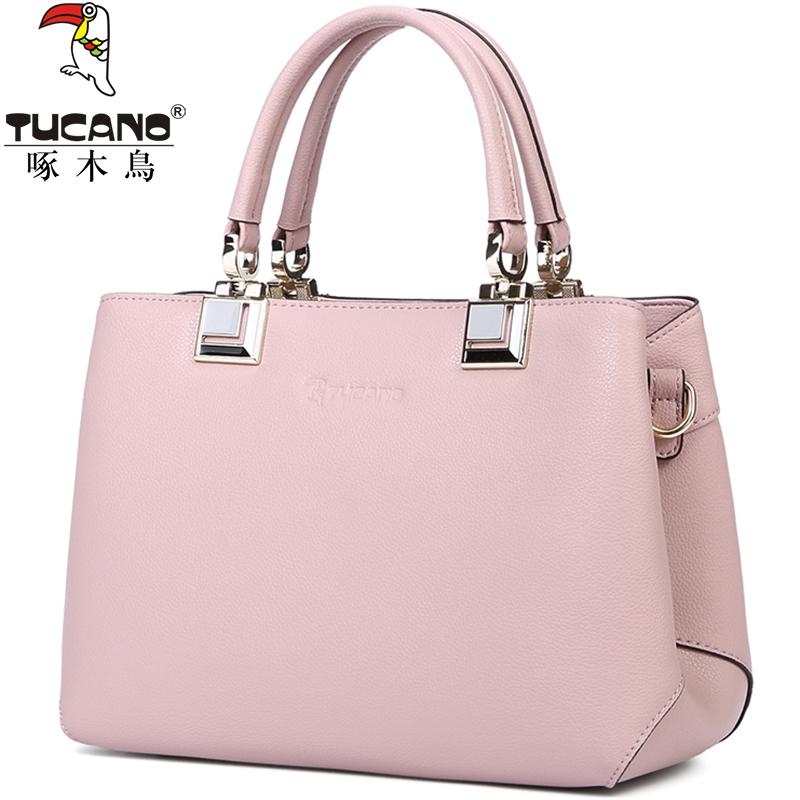5482b742a778 Woodpecker female bag 2018 New Fashion Shoulder Bag Ladies Big Bag female  handbag leather bag female messenger bag