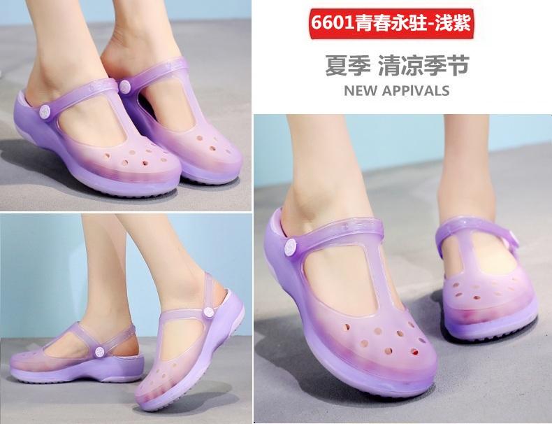 Chính hãng VEBLEN giày lỗ nữ dép mùa hè -giày bãi biển - dép đi mưa - dép đi trong phòng làm việc và dép đi trong nhà