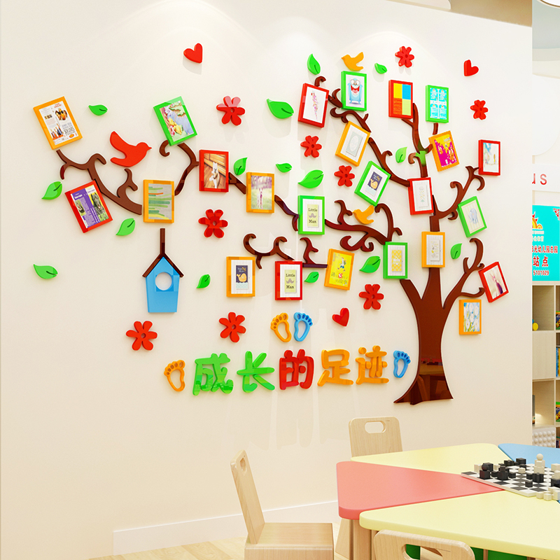Childrens Room Decoration Tree Wall Stickers 3d Baby Growth Record