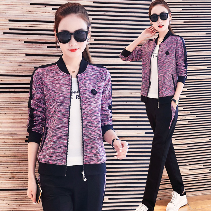 a4dced4335276 Sportswear suit female spring and autumn 2018 new fashion Korean ...