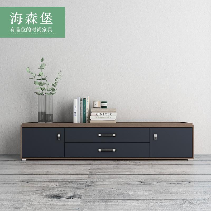 北歐實木電視柜現代簡約小戶型 迷你茶幾電視柜組合套裝客廳地柜