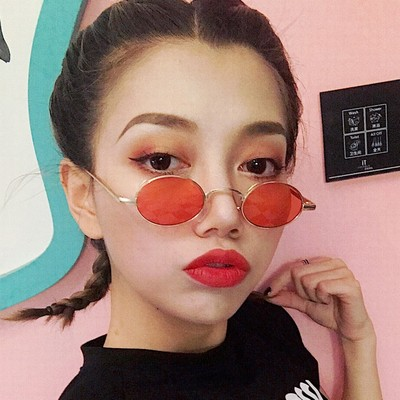 Judy glasses Korean version of the retro retro Harajuku Hong Kong flavor cat eyes sunglasses female ins net red Europe and the United States hip-hop round sunglasses