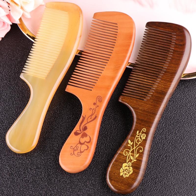 桃木梳子牦牛角梳天然正品防静电脱发檀香檀木网红款男女专用长发