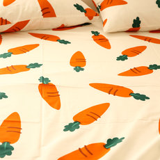 Millet 馍馍 single piece cotton dormitory children's sheets Japanese simple carrot bedding bed 笠 can be customized
