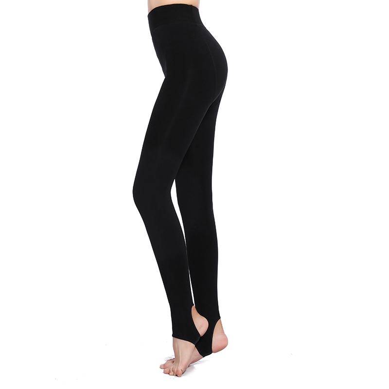 秘密之冠瘦腿袜女冬季加绒加厚黑色外穿打底裤踩脚一体显瘦1600D