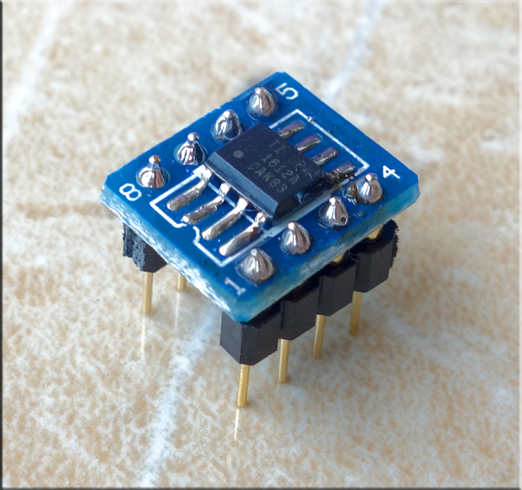 SMD dual op amp TI BB OPA1612AID fever audio op amp IC