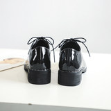 British style small leather shoes female spring college 2021 tide shoes net red wild black casual thick heel fairy style single shoes