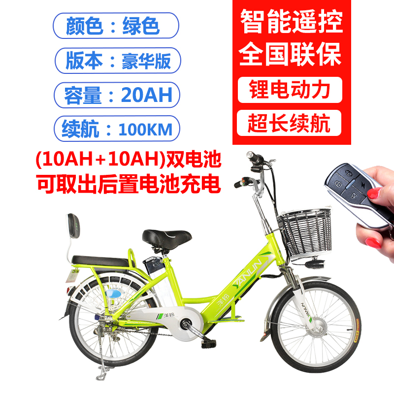 20 Inch Luxury Green Double Battery 100km