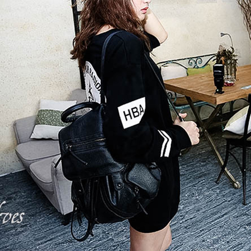 韩版秋冬装宽松长款打底HBA外穿长袖圆领套头女装卫衣时尚