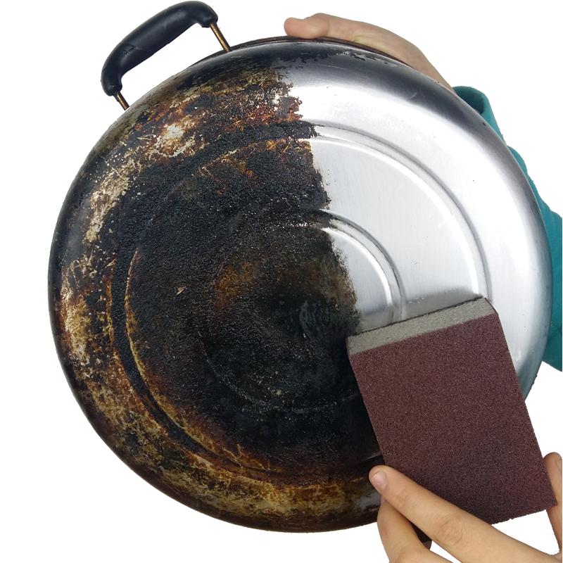 金刚砂海绵擦纳米海绵擦刷锅神器清洁去污去铁锈海绵擦锅底海绵擦可领取领券网提供的3.00元优惠券