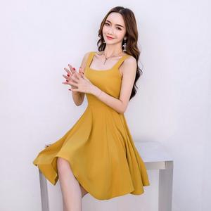 FS17305# 法式桔梗裙维多利亚气质连衣裙仙女超仙甜美赫本复古高腰裙