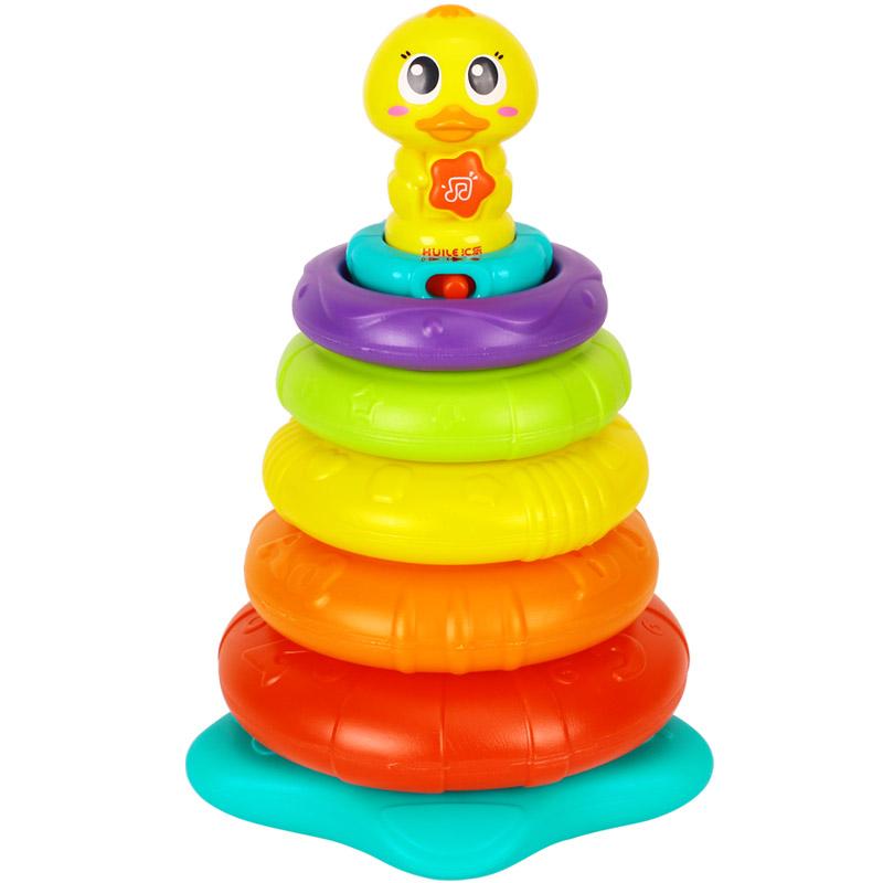 【汇乐】彩虹叠叠鸭声光音乐玩具