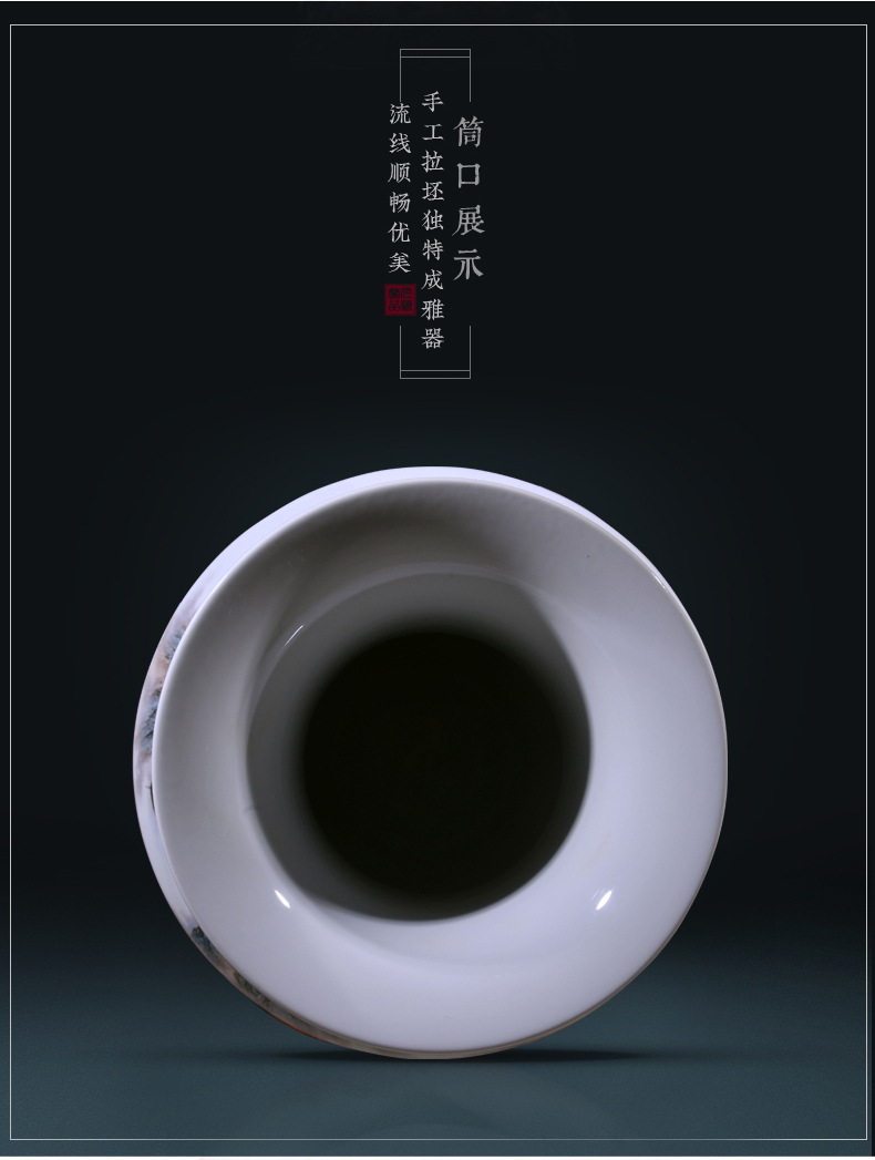 The Master of jingdezhen ceramics hand - made jiangnan classical Chinese vase sitting room porch decoration vase furnishing articles