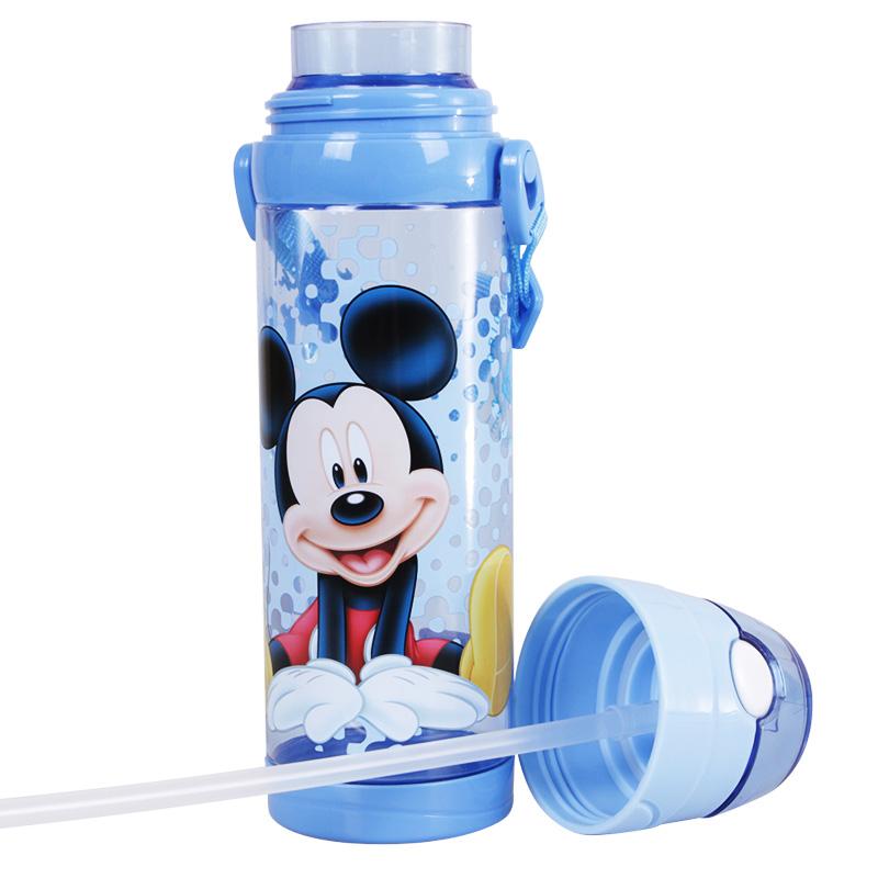 迪士尼儿童宝宝小孩塑料杯卡通透明吸管饮水杯小学生夏天水杯水壶