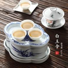 Chaozhou Kung Fu Teacup Ceramic Mini Tea Set Single Cup Thin Fetal Bone Porcelain Ultra-thin White Jade Makes Chinese Egg Shells Reverse