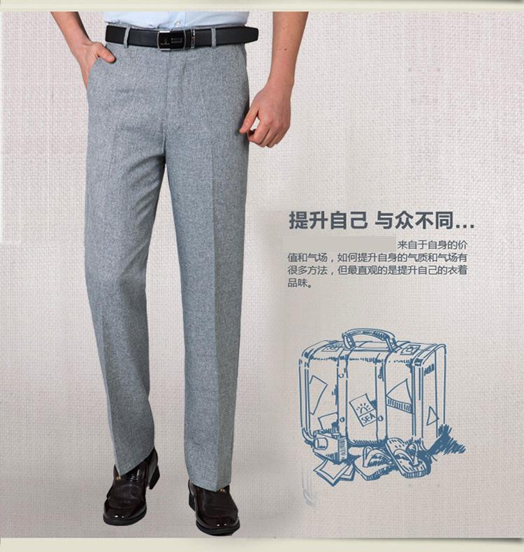 Mùa hè phần mỏng người đàn ông trung niên của quần âu lỏng thẳng quần linen trung niên quần cao eo daddy quần dài