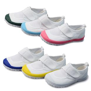 幼儿园儿童纯棉粘扣小白鞋橡胶软底