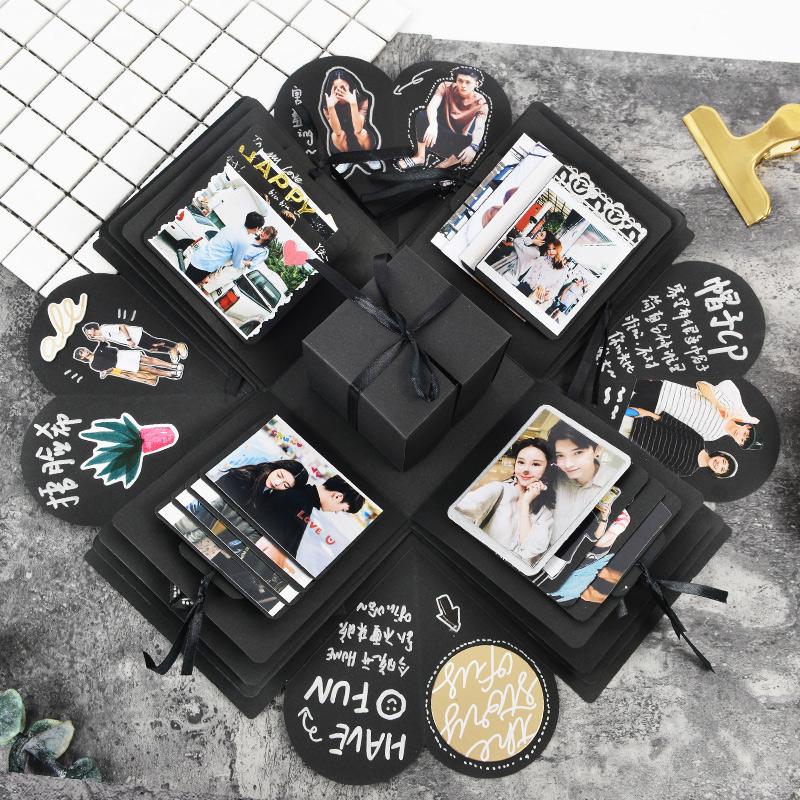 网红爆炸盒子DIY手工相册创意情侣浪漫生日惊喜照片定制抖音礼物
