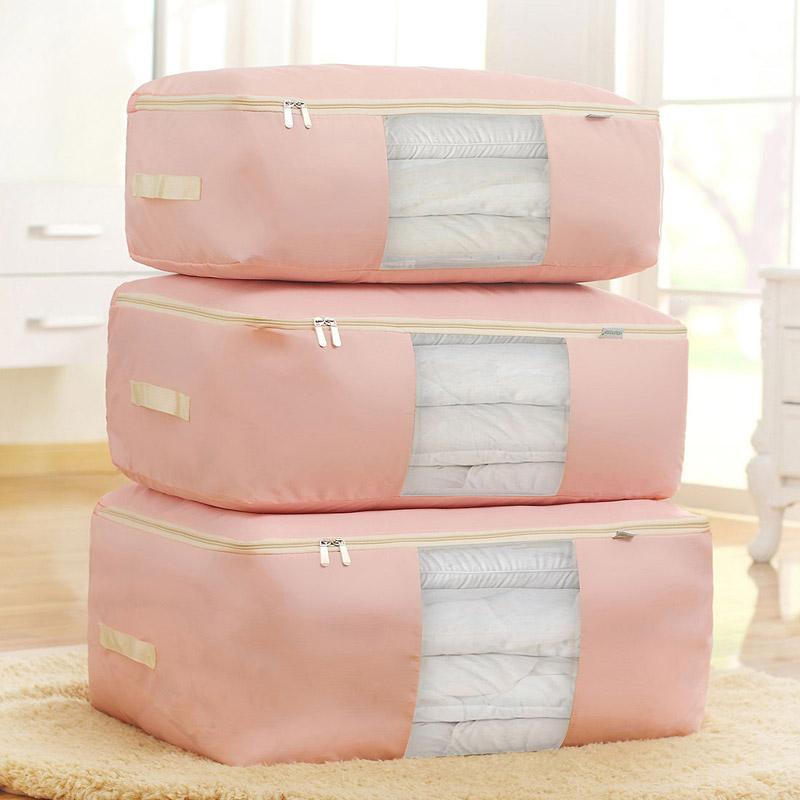 Большая оксфордская ткань хлопок Готовое прозрачное хранение одеждой для мешков утепленный Хлопчатобумажная вешалка для одежды