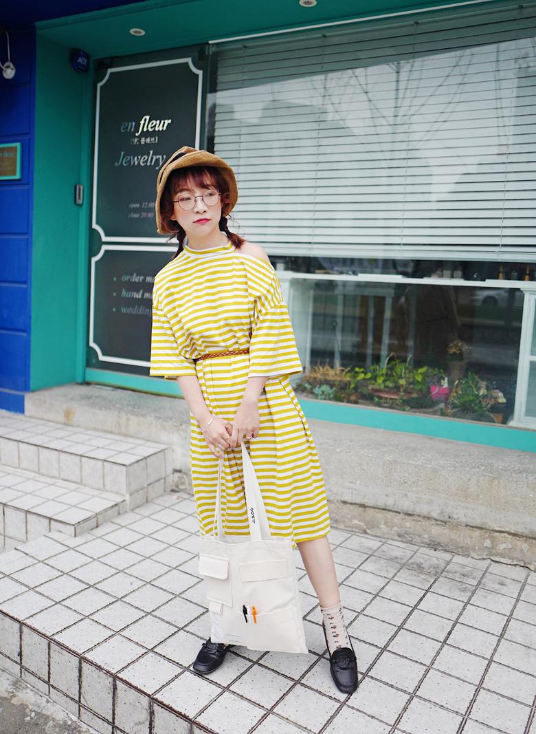 Wei những gì thật sự tự làm quây thoải mái lười biếng một mảnh sọc đầm ba màu phụ nữ mang thai có thể mặc