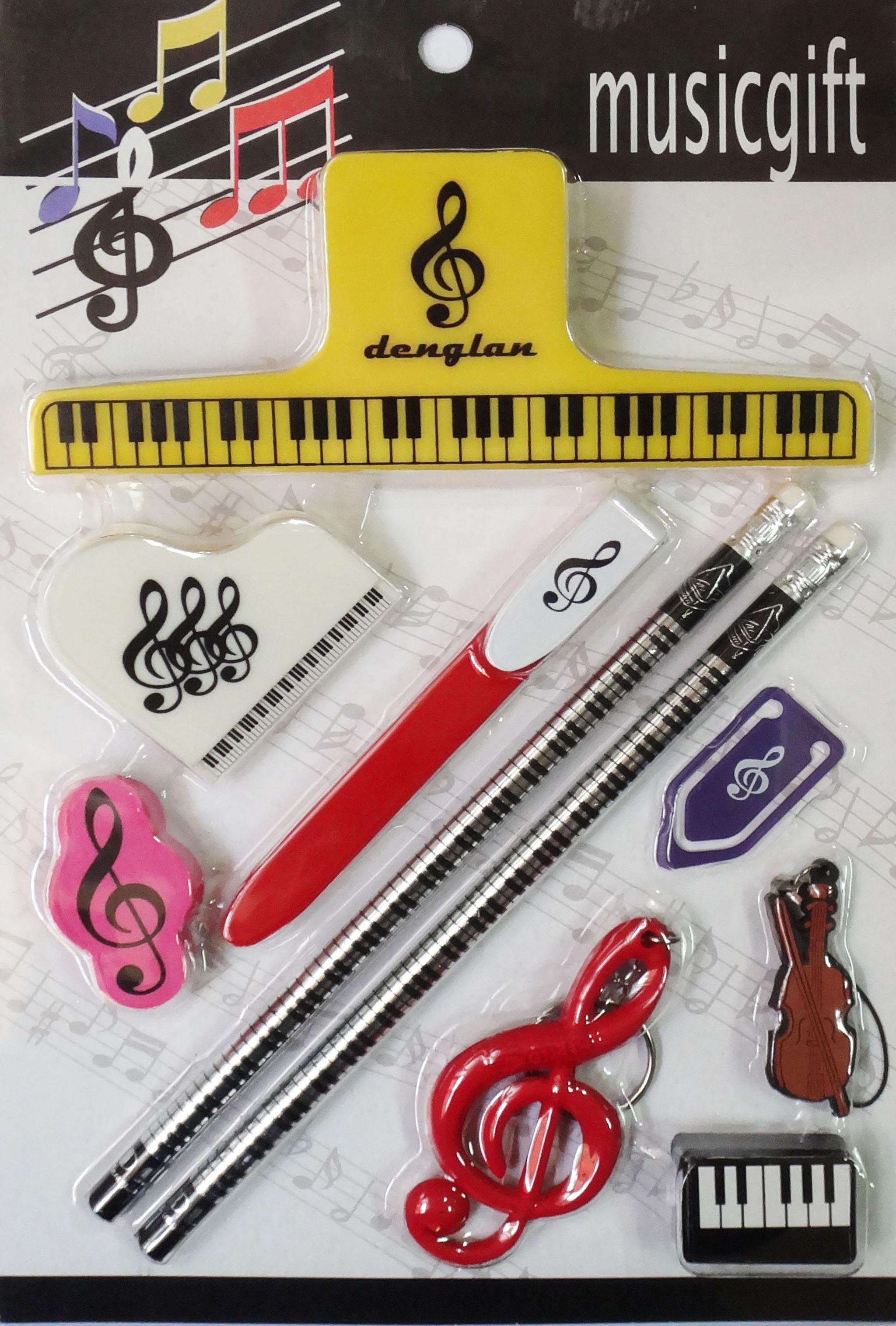 Nhân viên piano quà tặng văn phòng phẩm ghi chú quà tặng piano thư mục nhạc cụ phụ kiện nhạc cụ piano